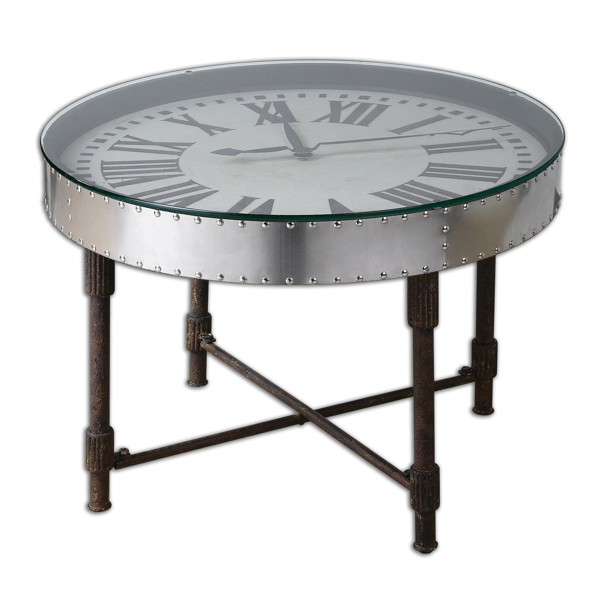Uttermost Accent Furniture Cassem Clock Table - Item Number: 24321