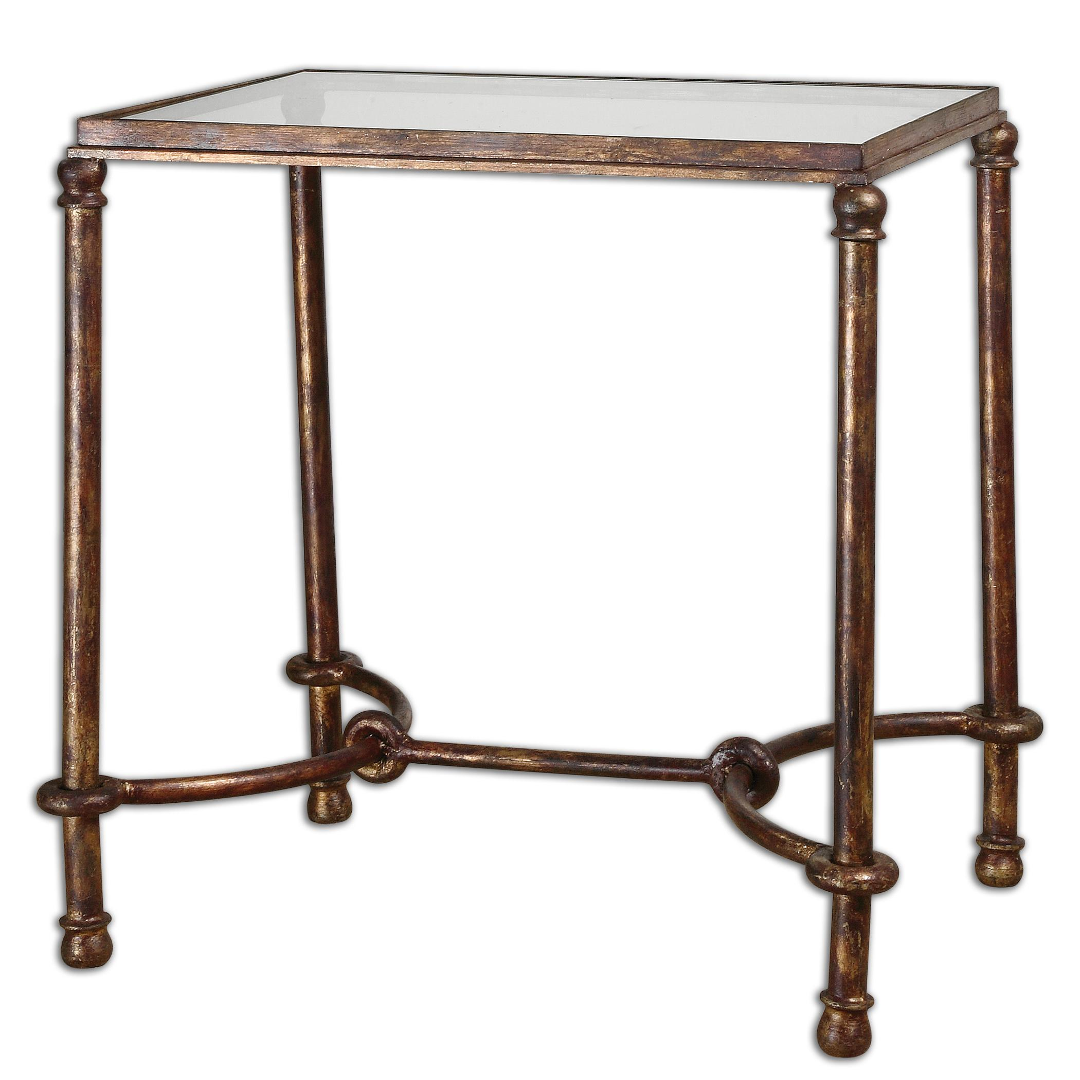 Accent Furniture - Occasional Tables Warring Iron End Table by Uttermost at Dream Home Interiors