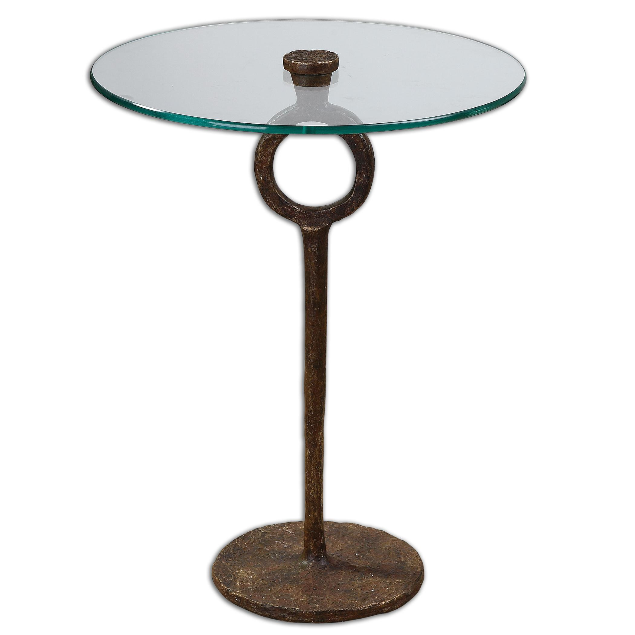 Uttermost Accent Furniture Diogo Glass Accent Table - Item Number: 24336