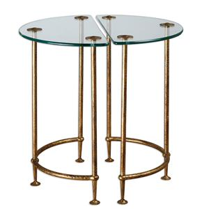 Uttermost Accent Furniture Aralu Glass Side Tables, Set of 2
