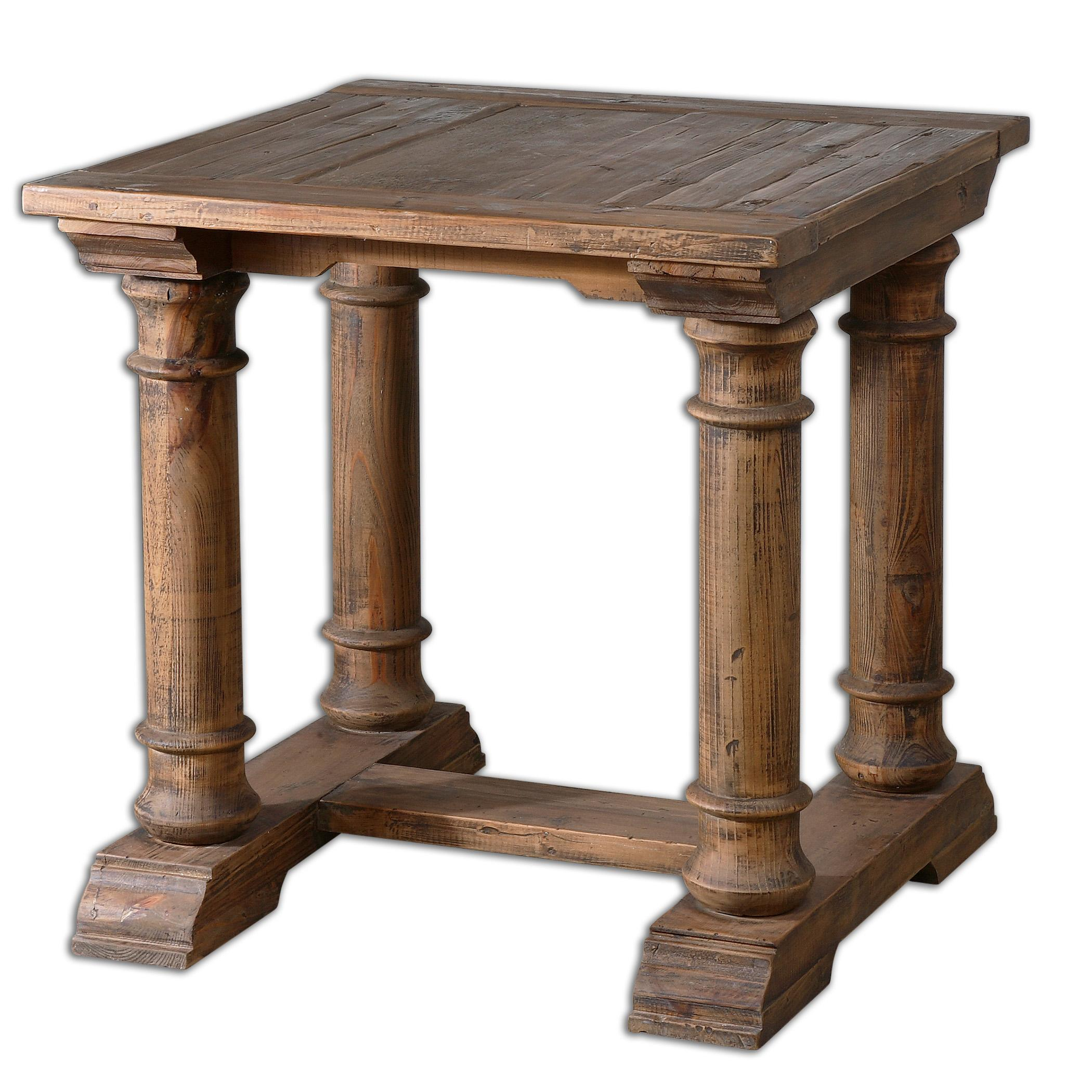 Uttermost Accent Furniture Saturia Wooden End Table - Item Number: 24341