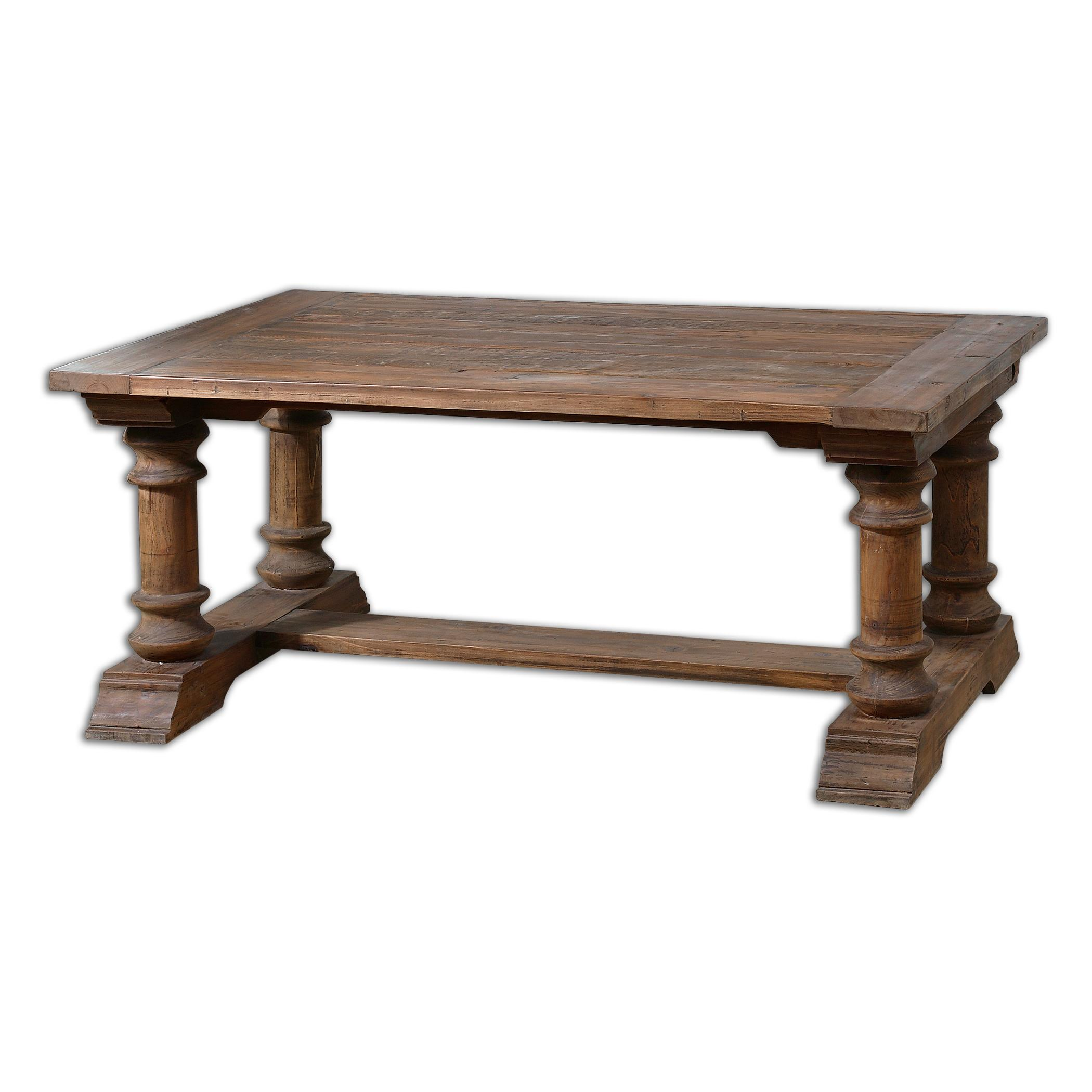 Uttermost Accent Furniture Saturia Wooden Coffee Table - Item Number: 24342