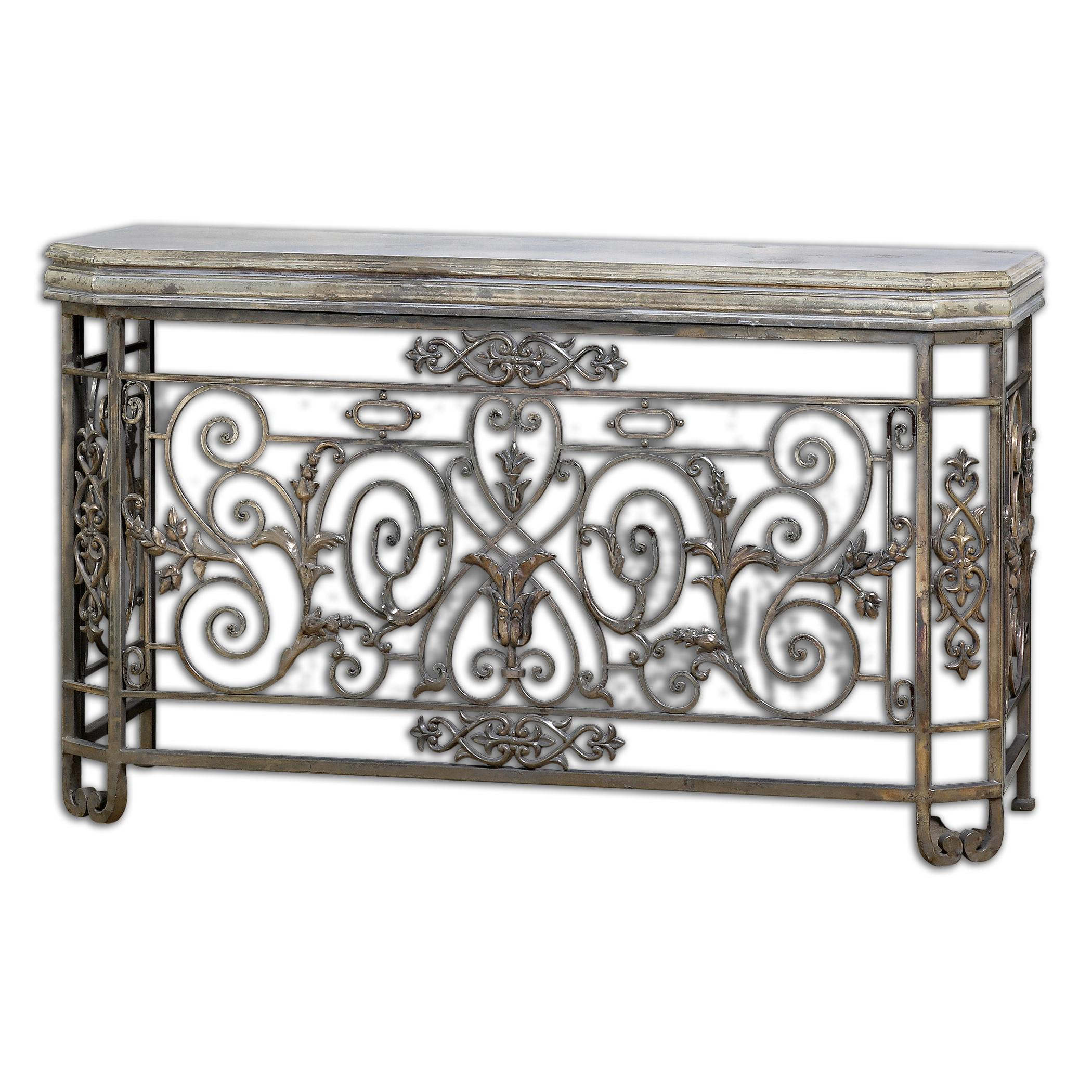 Uttermost Accent Furniture Kissara Metal Console Table - Item Number: 24347