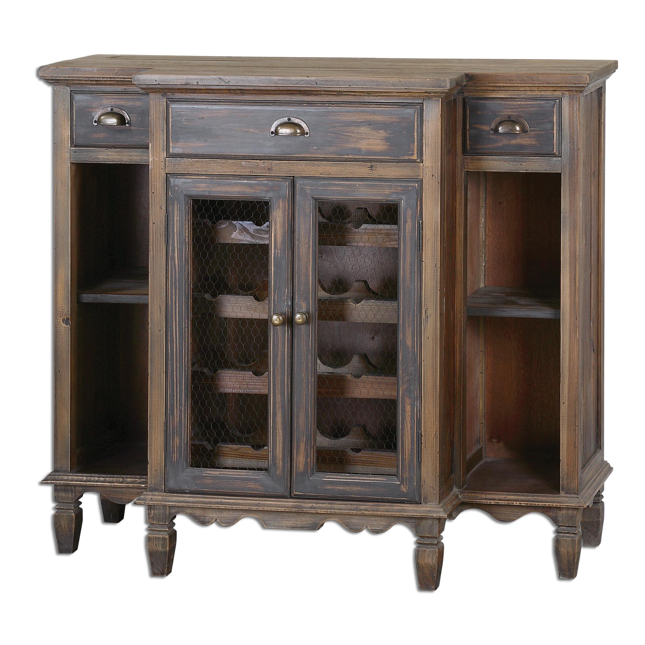 Uttermost Accent Furniture Suzette Wood Wine Cabinet - Item Number: 24371