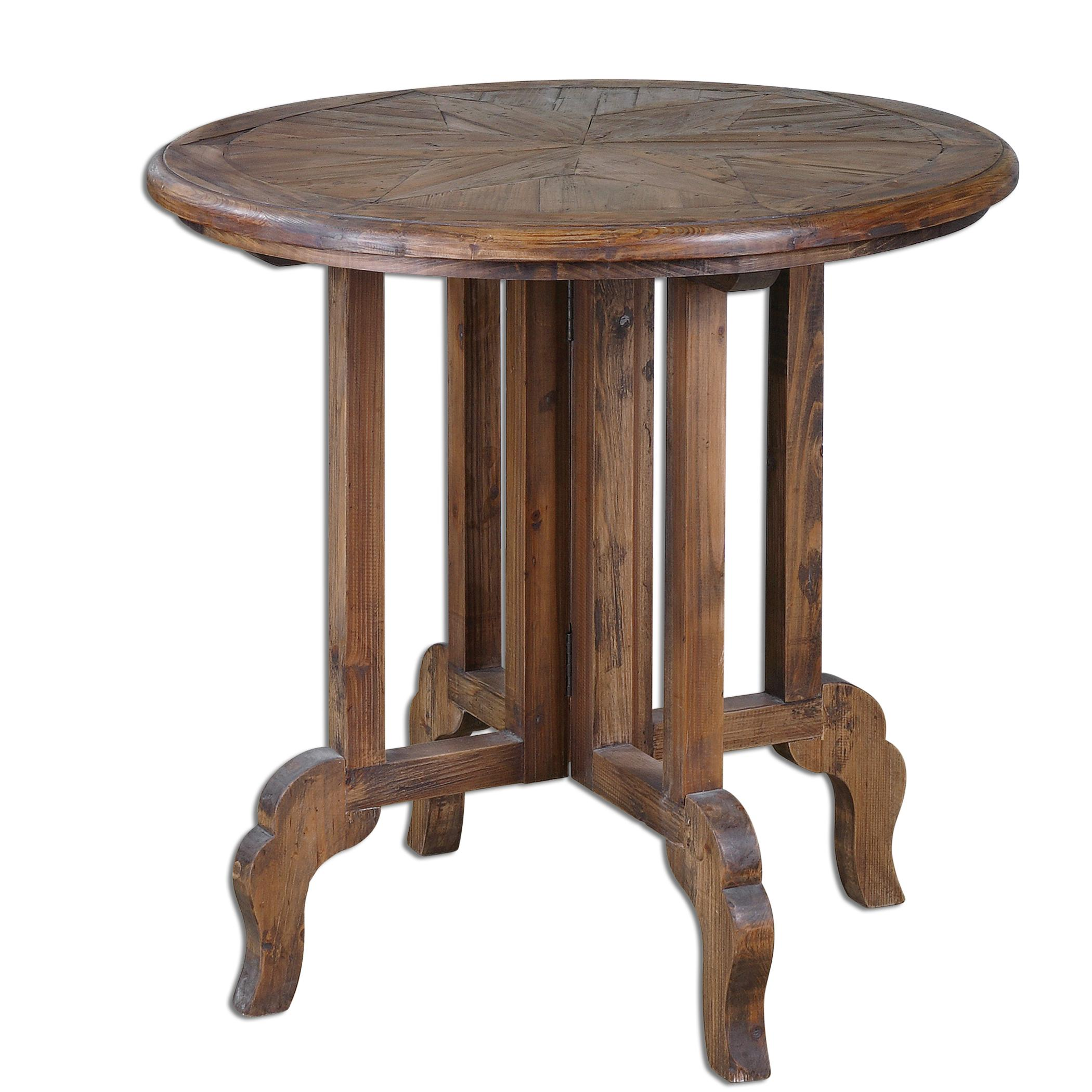 Accent Furniture - Occasional Tables Imber Round Accent Table by Uttermost at Goffena Furniture & Mattress Center