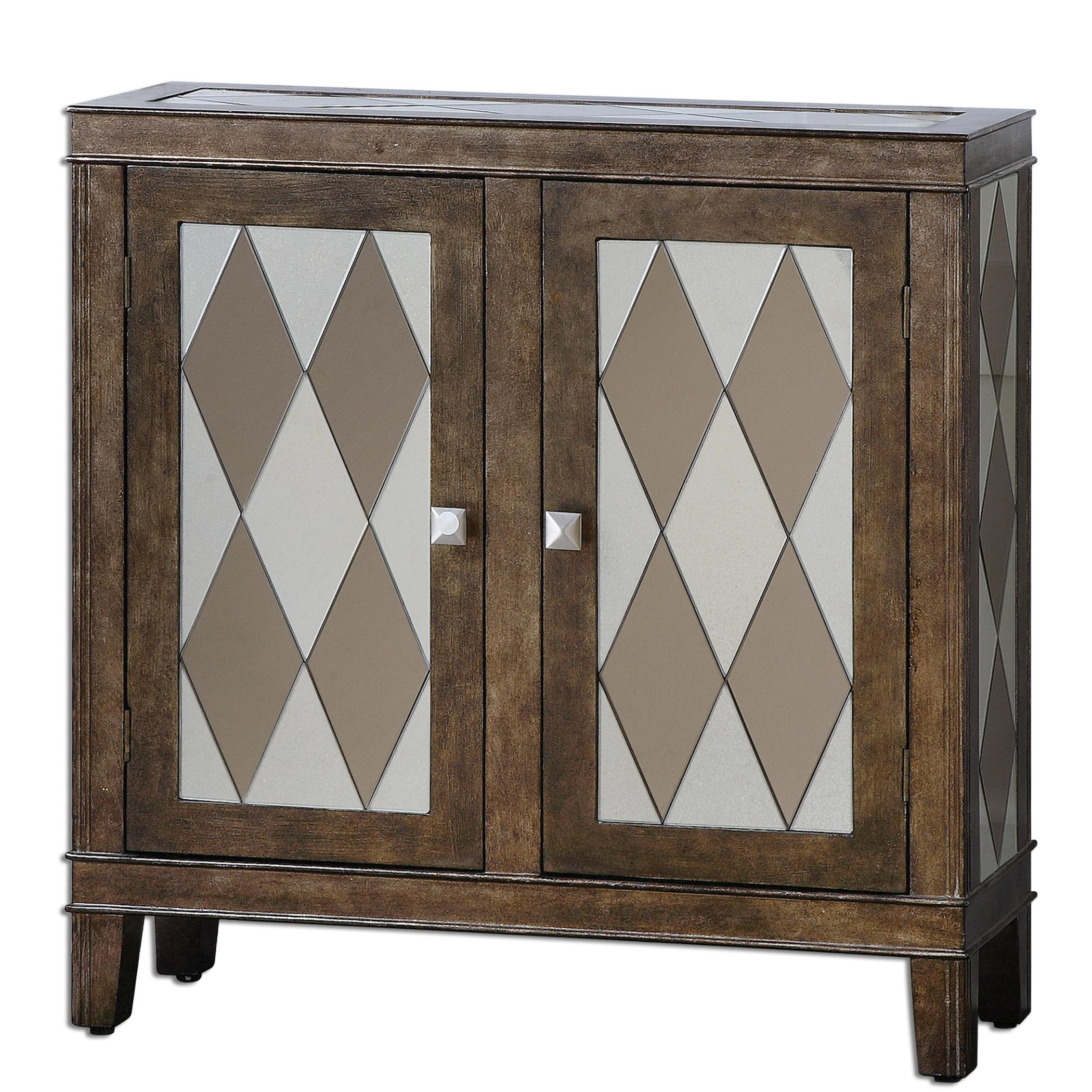 Uttermost Accent Furniture Trivelin Wooden Console Cabinet - Item Number: 24374