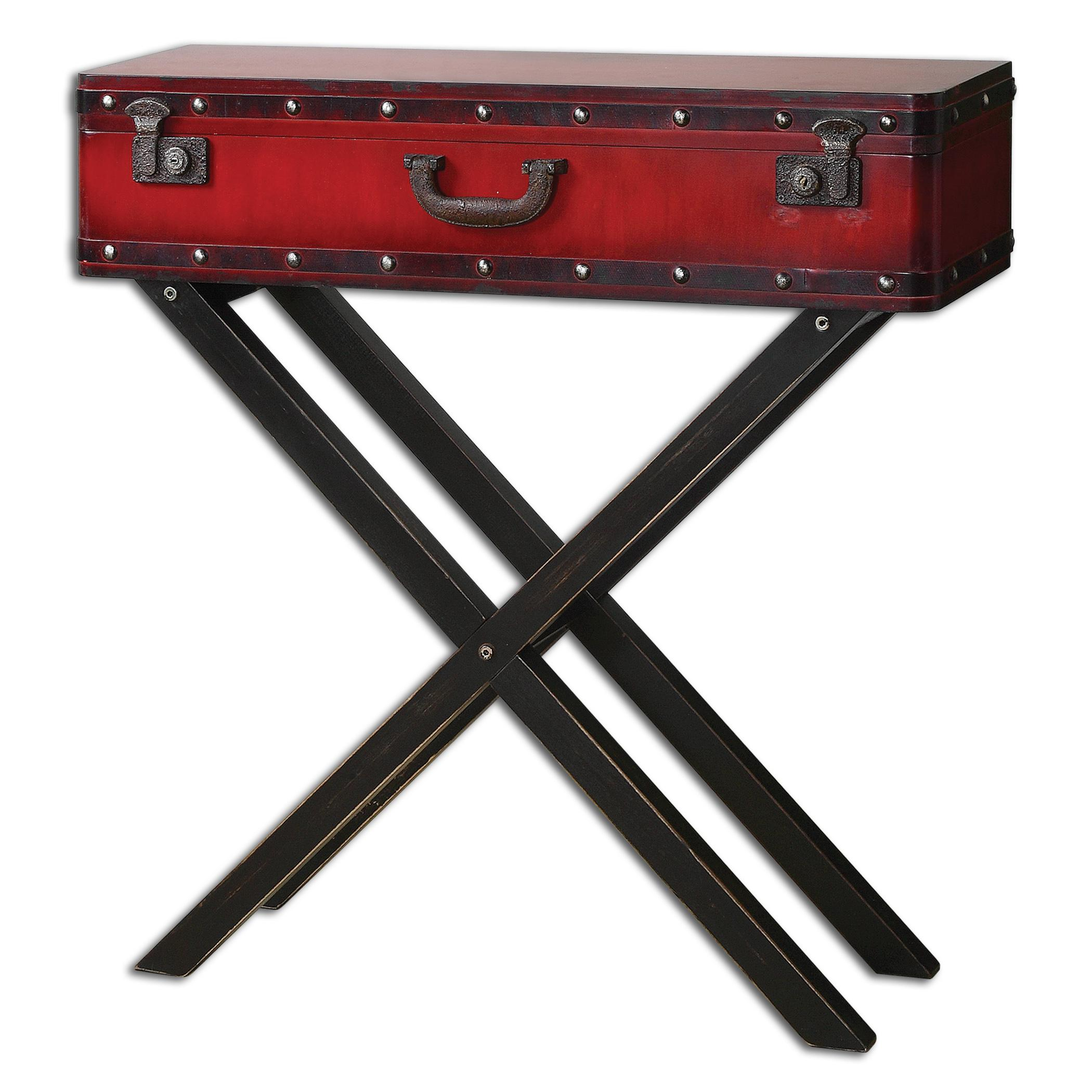 Uttermost Accent Furniture Taggart Red Console Table - Item Number: 24379