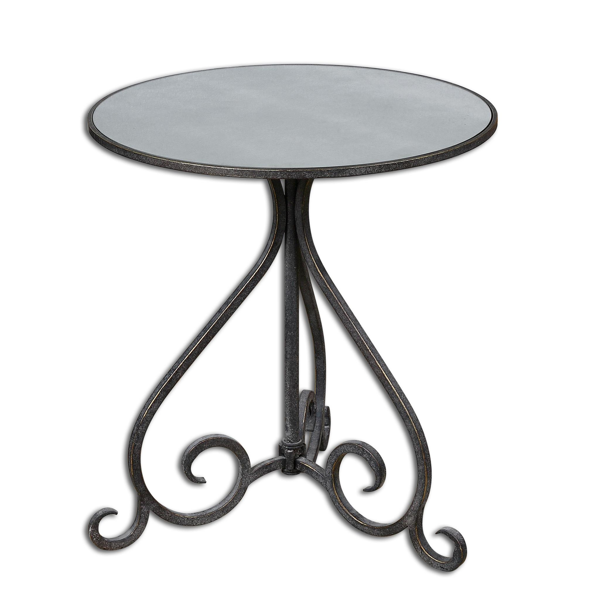 Uttermost Accent Furniture Poloa Mirrored Accent Table - Item Number: 24380
