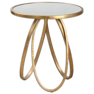 Uttermost Accent Furniture Montrez Gold Accent Table