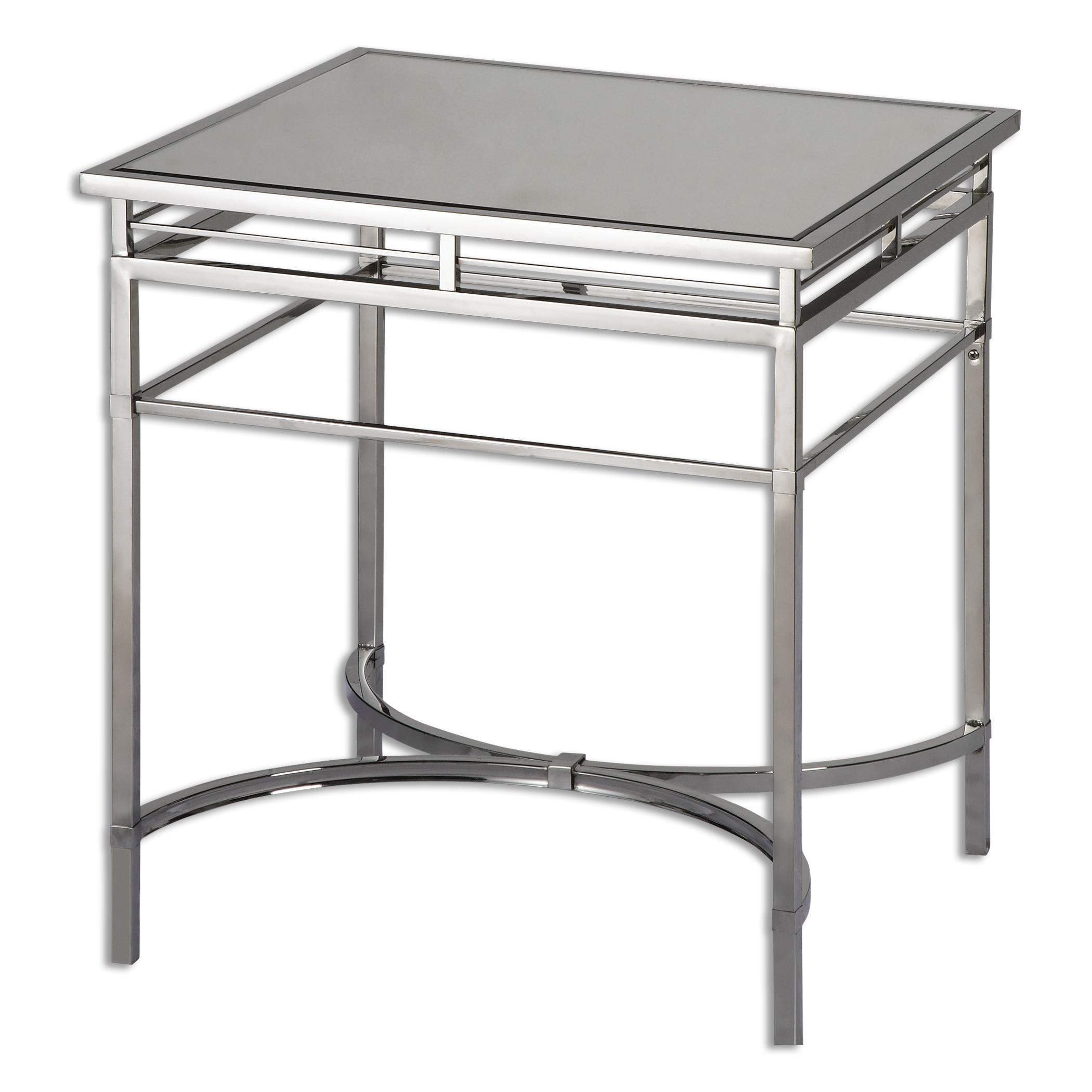 Uttermost Accent Furniture Fedro Mirrored Accent Table - Item Number: 24411