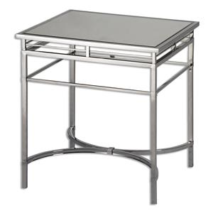 Uttermost Accent Furniture Fedro Mirrored Accent Table