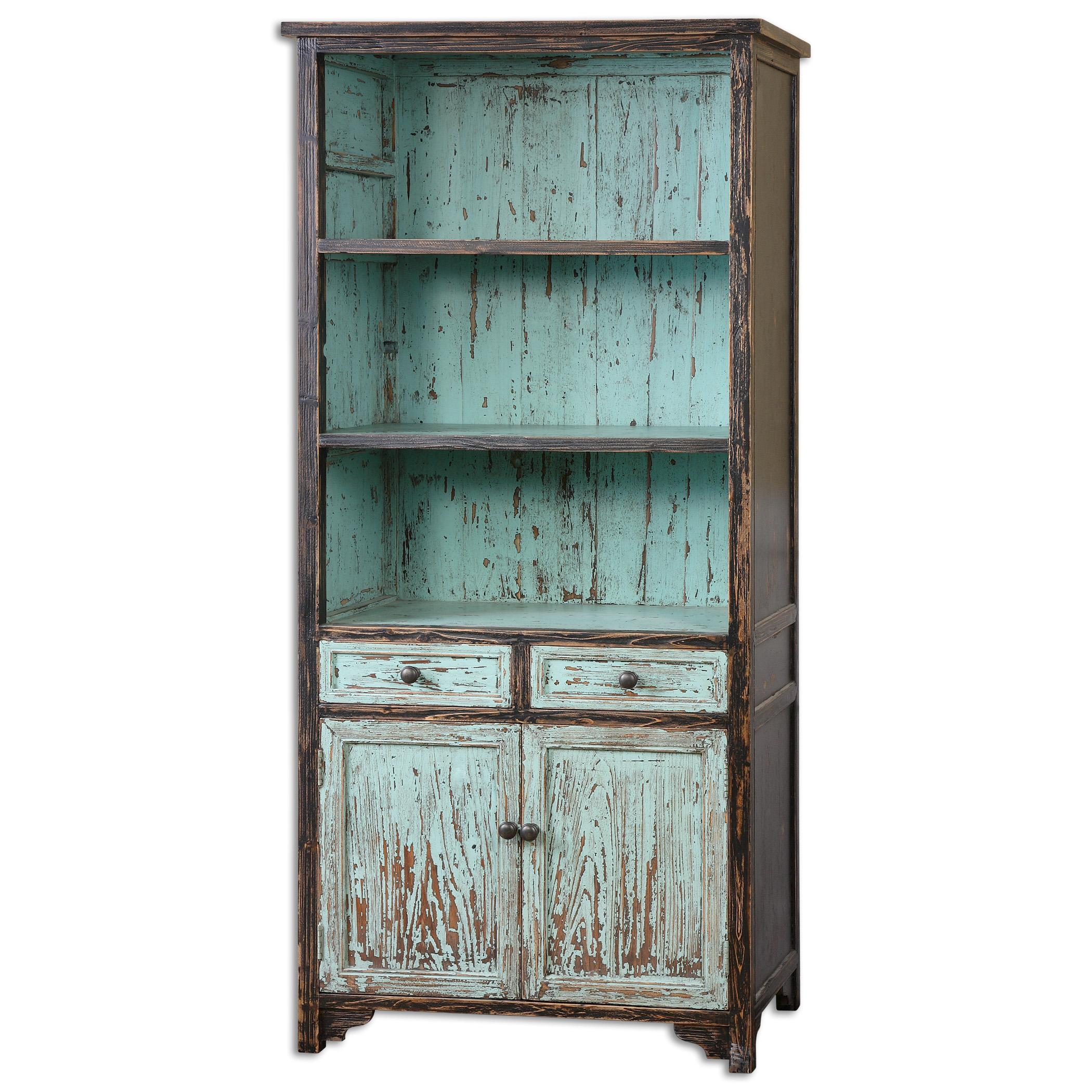 Uttermost Accent Furniture Dunixi Distressed Bookcase - Item Number: 24414