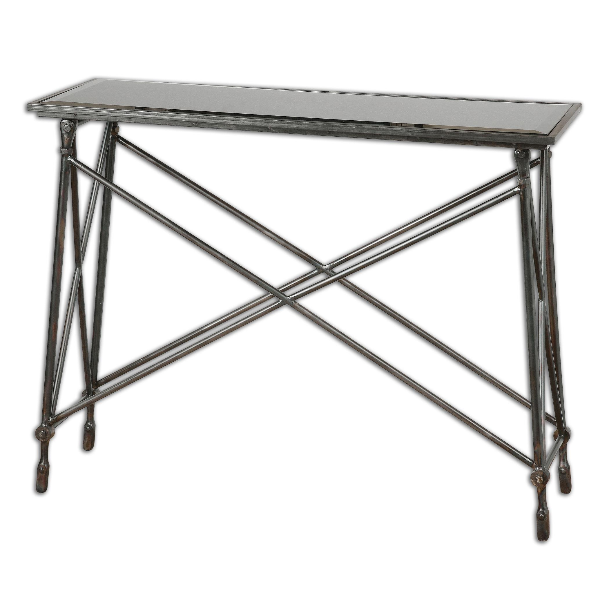 Uttermost Accent Furniture  Collier Black Glass Console Table - Item Number: 24420