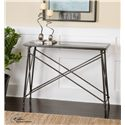 Uttermost Accent Furniture  Collier Black Glass Console Table