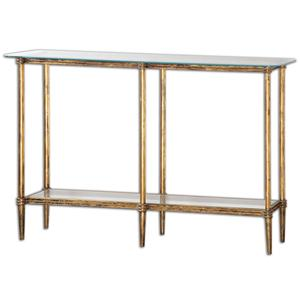 Uttermost Accent Furniture Elenio Glass Console Table