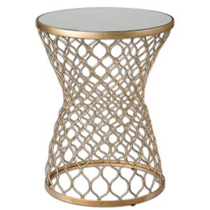 Uttermost Accent Furniture Naeva Gold End Table