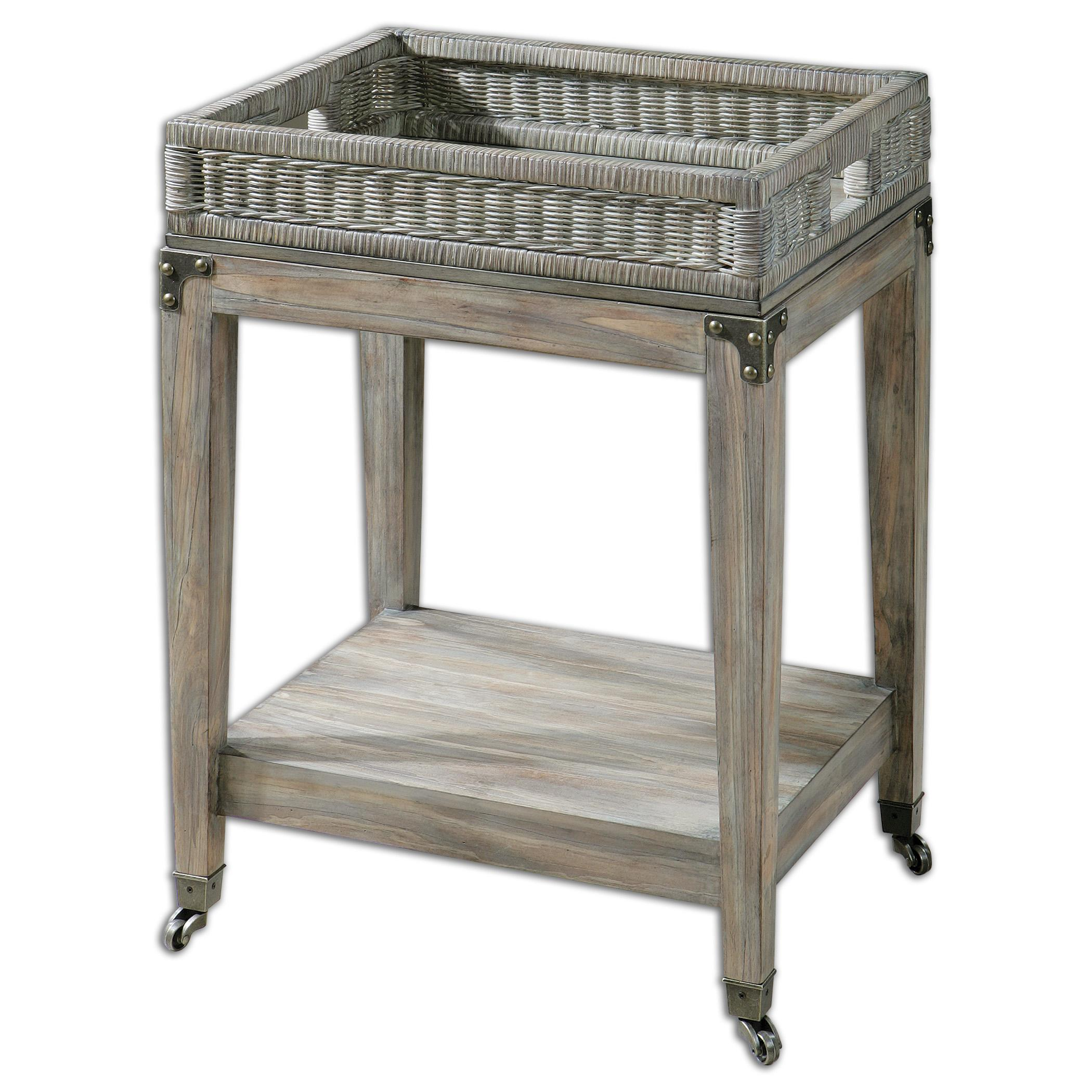 Uttermost Accent Furniture Davaughn Wooden Serving Cart - Item Number: 24431