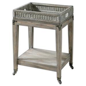 Uttermost Accent Furniture Davaughn Wooden Serving Cart
