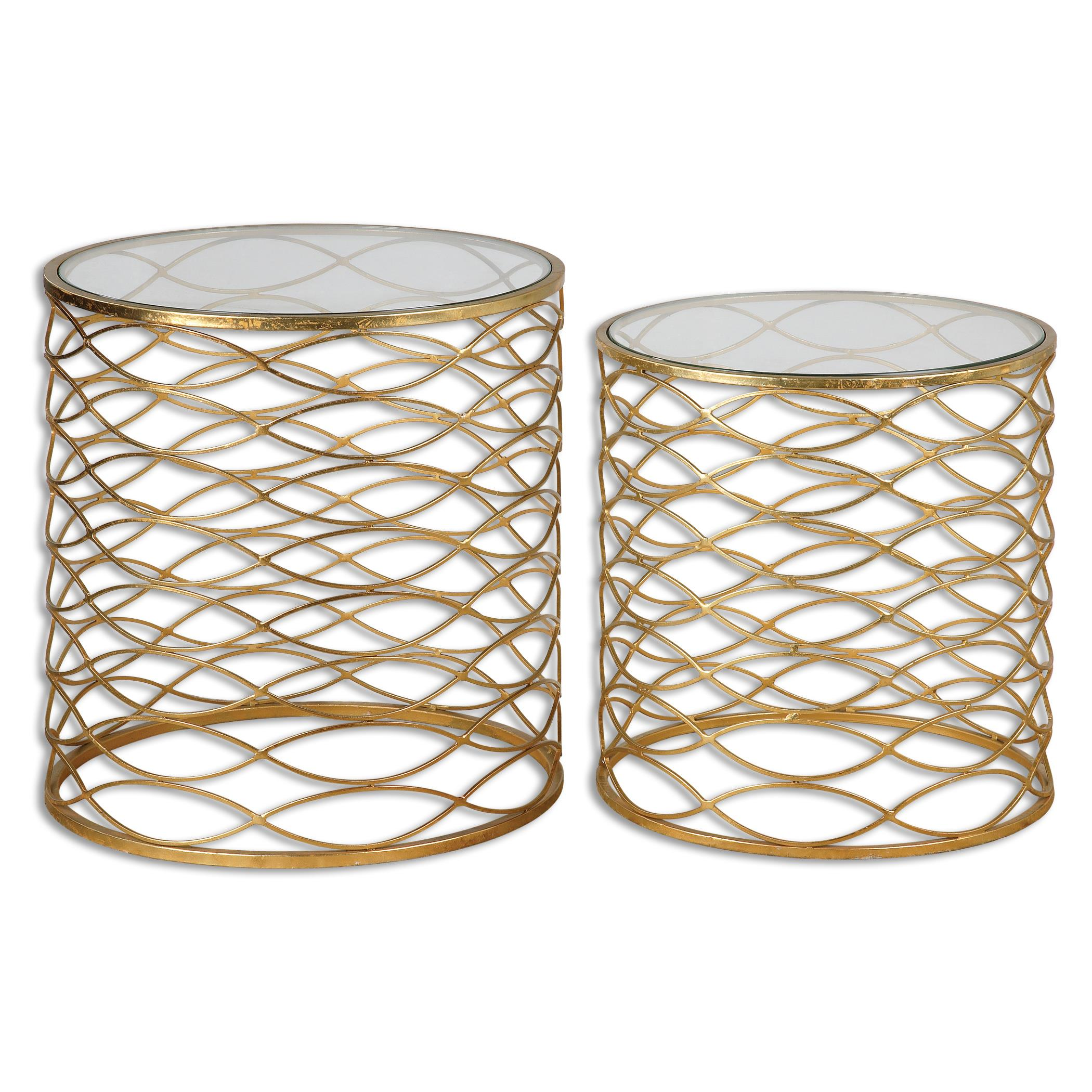 Uttermost Accent Furniture Zoa Gold Accent Tables Set/2 - Item Number: 24434