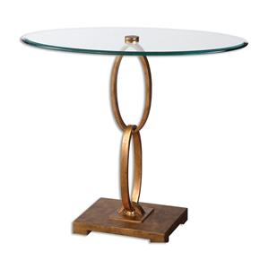 Uttermost Accent Furniture Cieran Oval Glass Accent Table