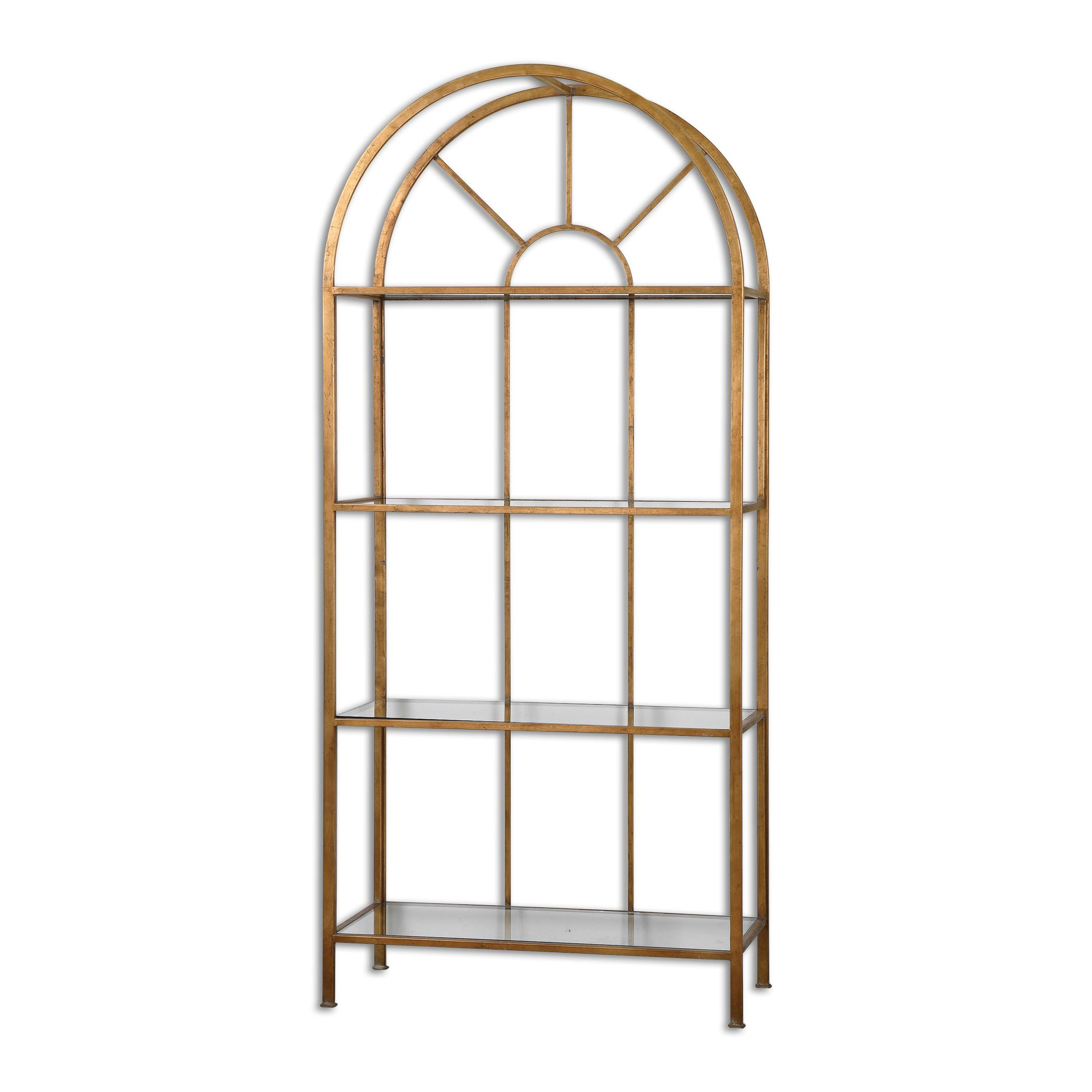 Uttermost Accent Furniture Cireneo Glass Etagere - Item Number: 24440