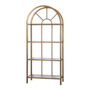 Uttermost Accent Furniture Cireneo Glass Etagere