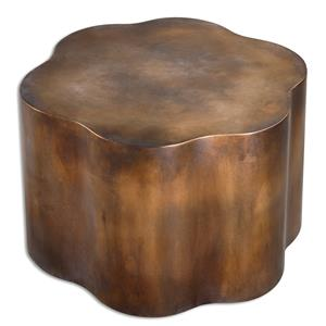Uttermost Accent Furniture Sameya Oxidized Copper Accent Table