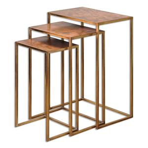 uttermost accent furniture copres oxidized nesting tables set3