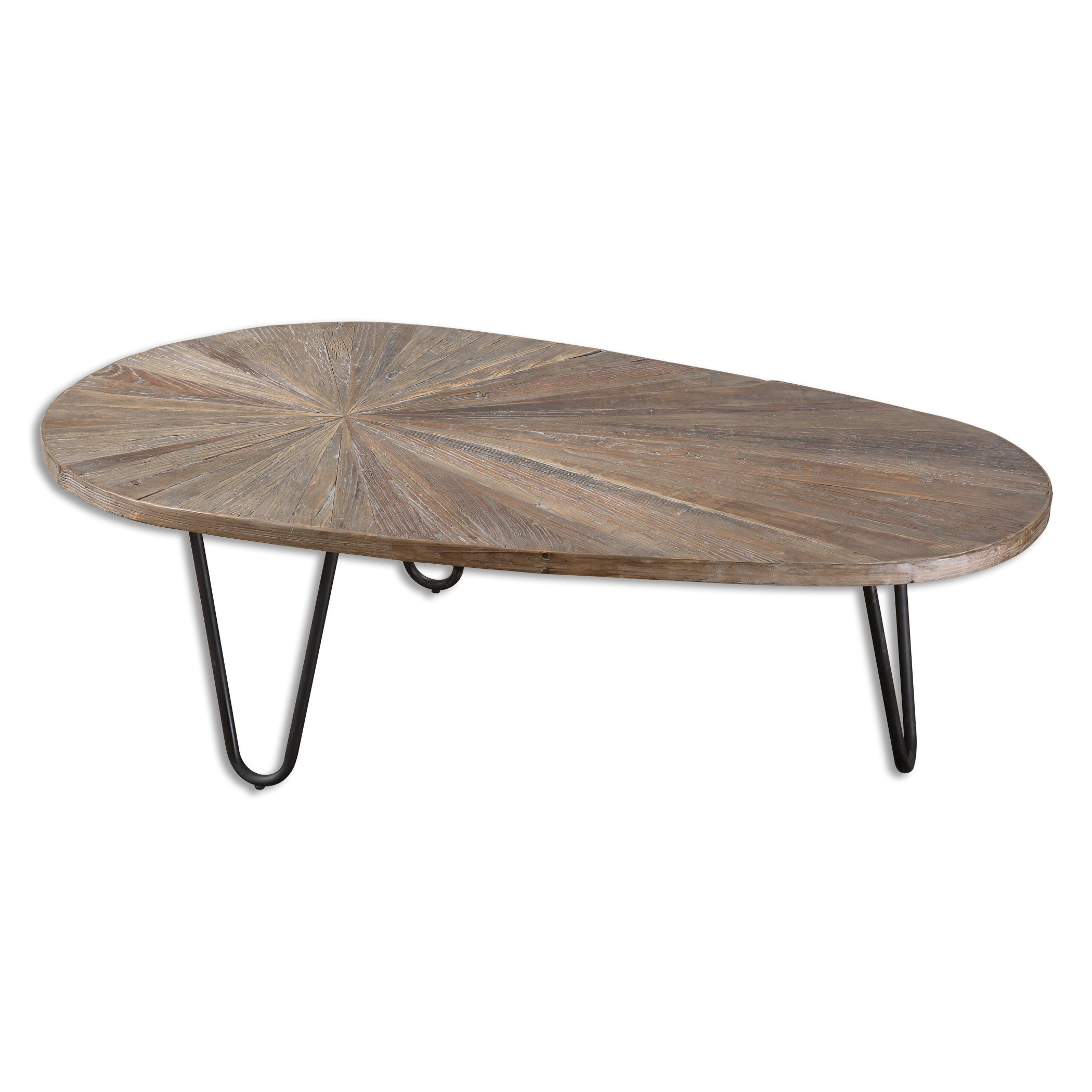 Accent Furniture - Occasional Tables Leveni Wooden Coffee Table by Uttermost at Goffena Furniture & Mattress Center