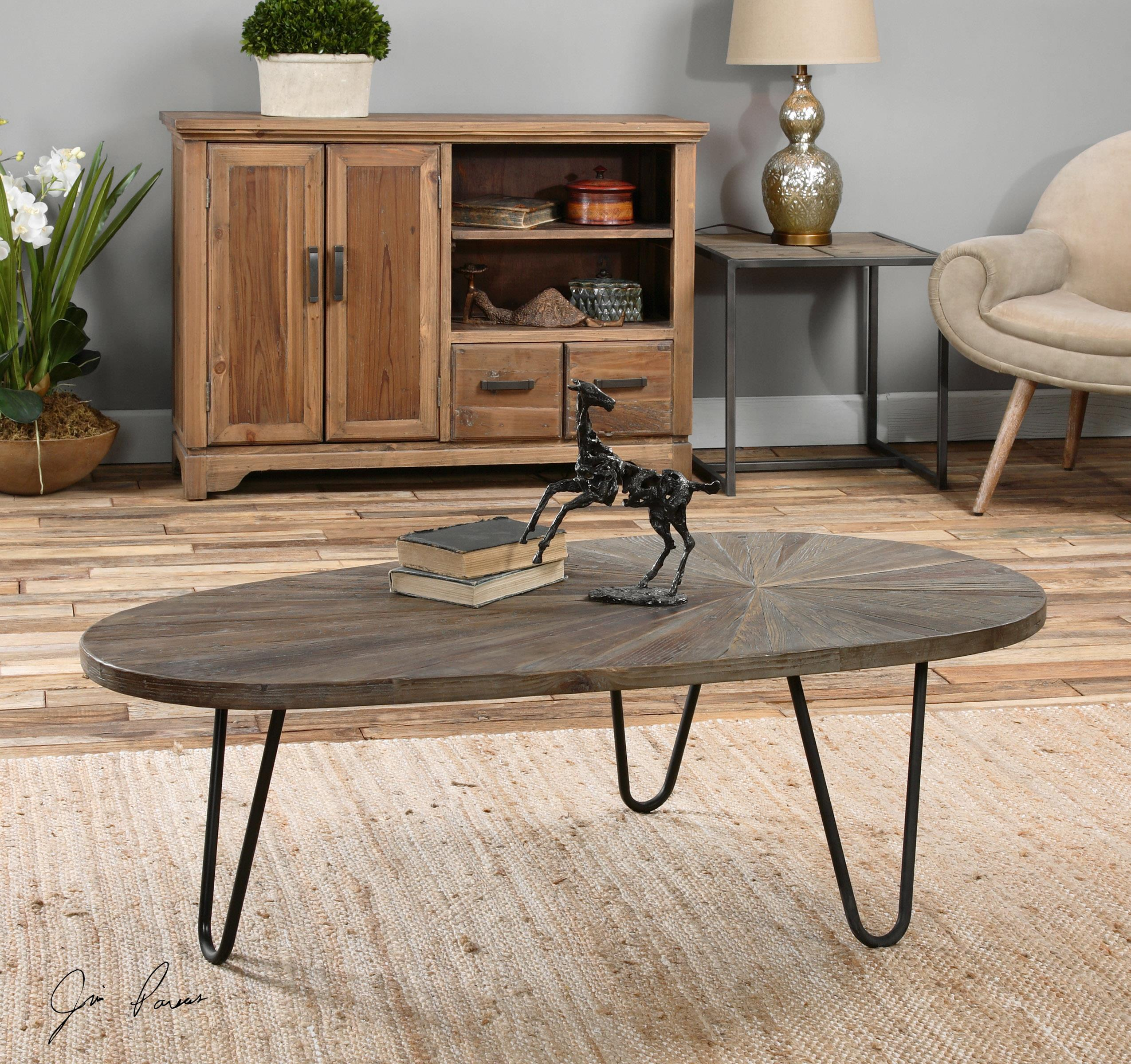 Uttermost Accent Furniture Leveni Wooden Coffee Table