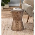 Uttermost Accent Furniture Cutler Drum Shaped Accent Table