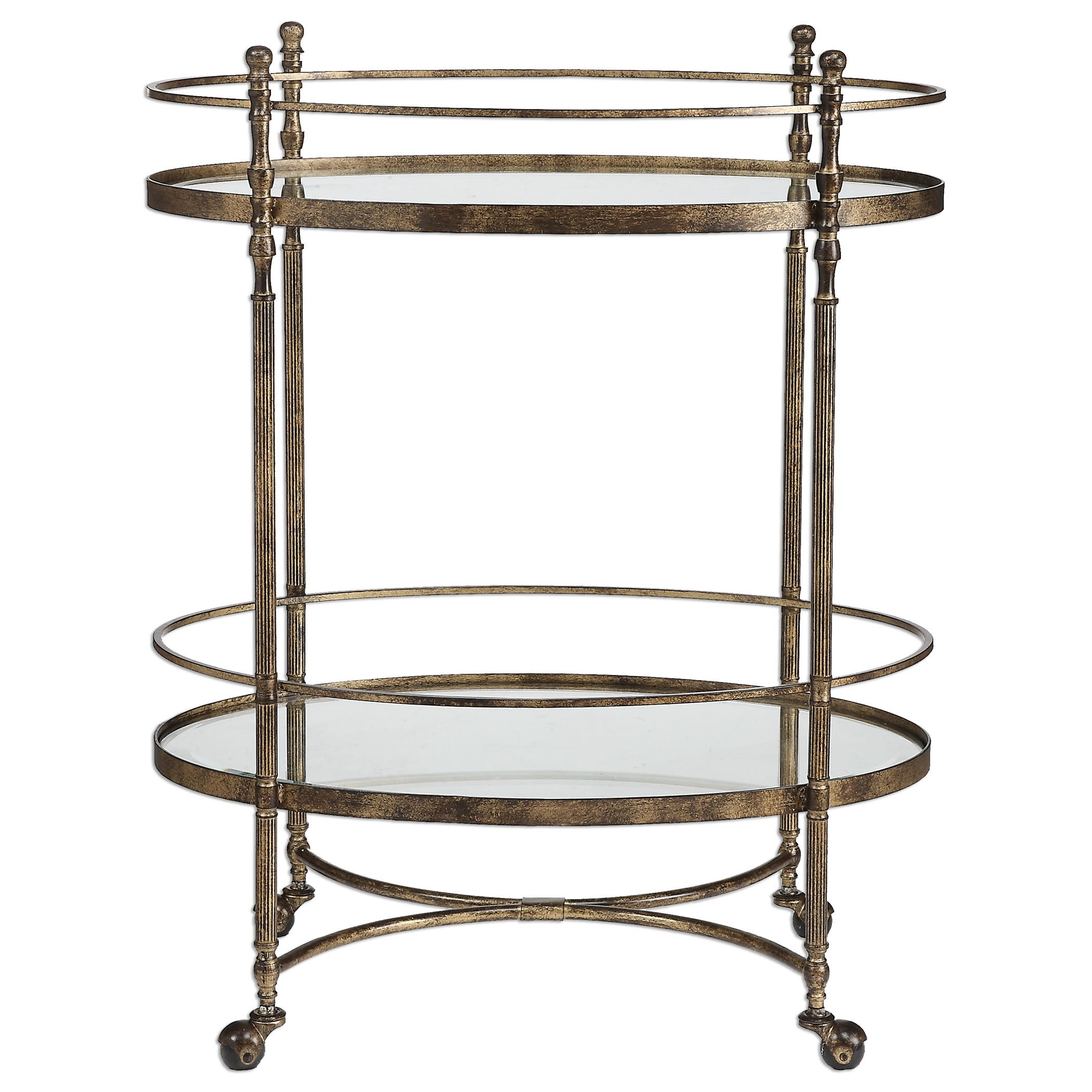 Uttermost Accent Furniture Zera Serving Cart - Item Number: 24466