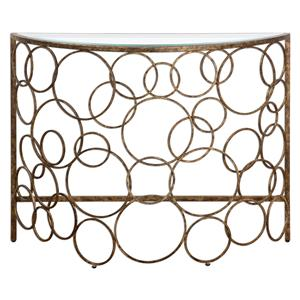 Uttermost Accent Furniture Jabari Semi-Circle Console Table
