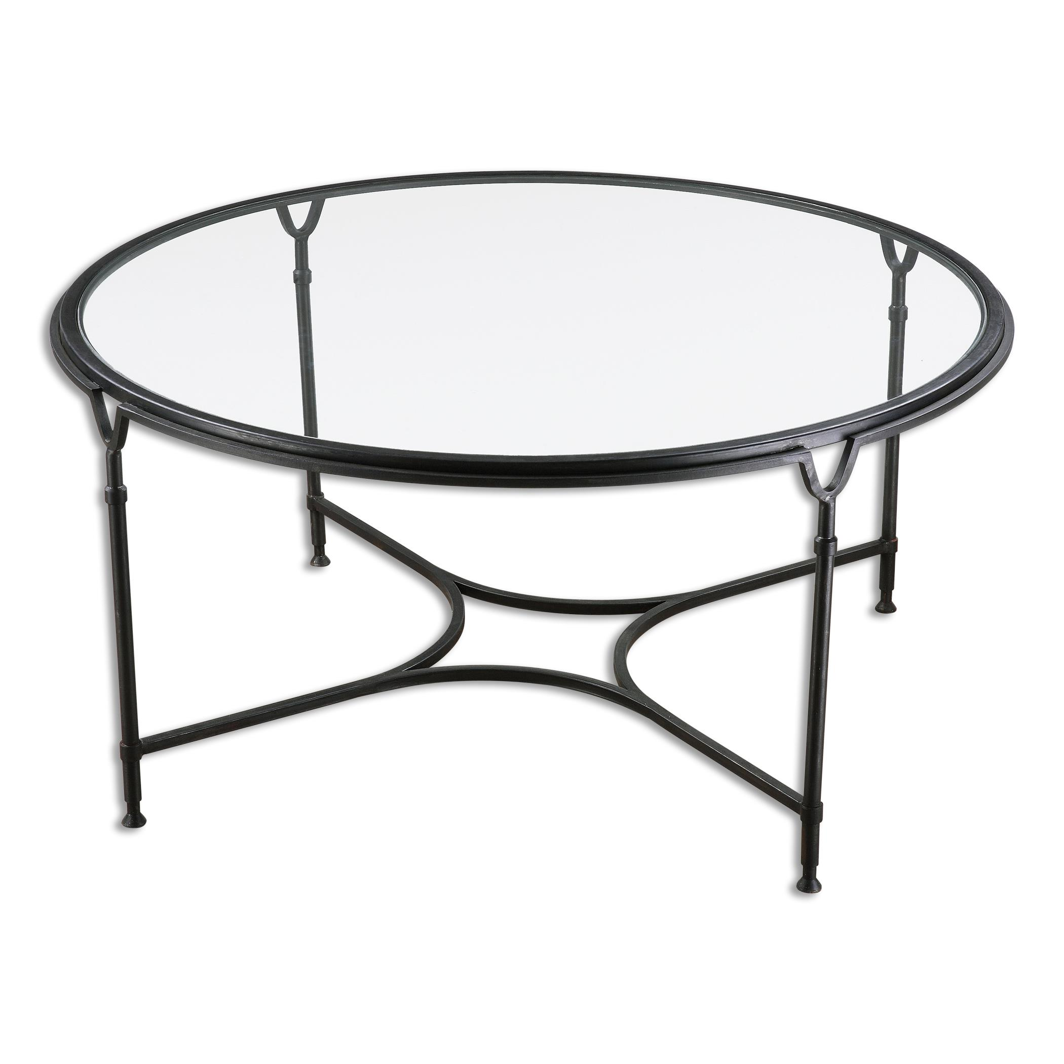 Uttermost Accent Furniture Samson Glass Coffee Table - Item Number: 24468