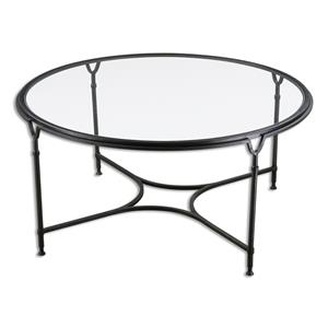 Uttermost Accent Furniture Samson Glass Coffee Table