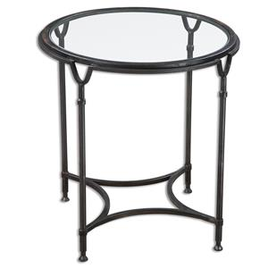 Uttermost Accent Furniture Samson Glass Side Table