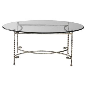 Uttermost Accent Furniture Nuncia Glass Coffee Table