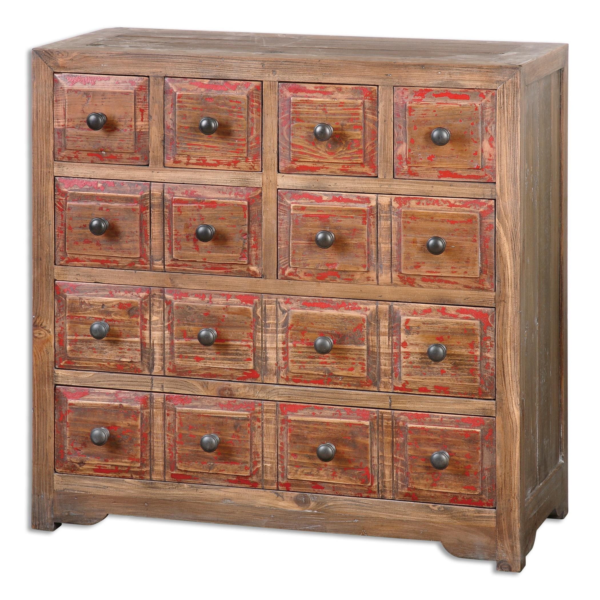 Uttermost Accent Furniture Rylee Weathered Drawer Chest - Item Number: 24481