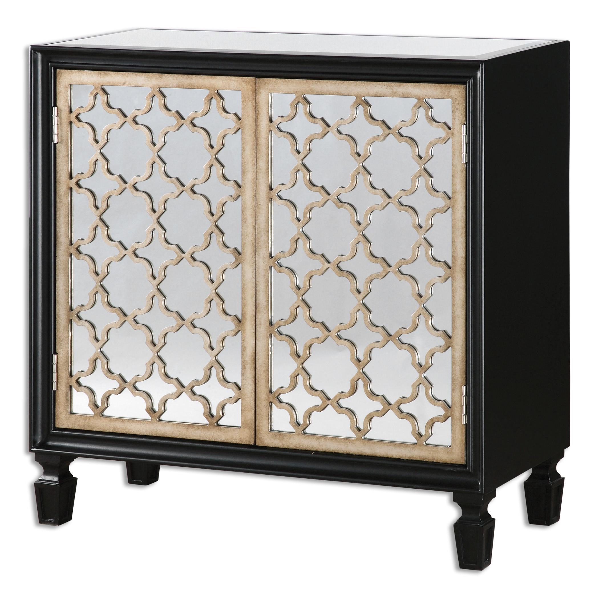 Uttermost Accent Furniture Franzea Mirrored Console Cabinet - Item Number: 24498