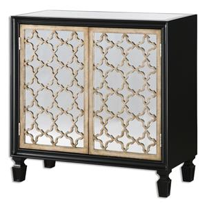 Uttermost Accent Furniture Franzea Mirrored Console Cabinet