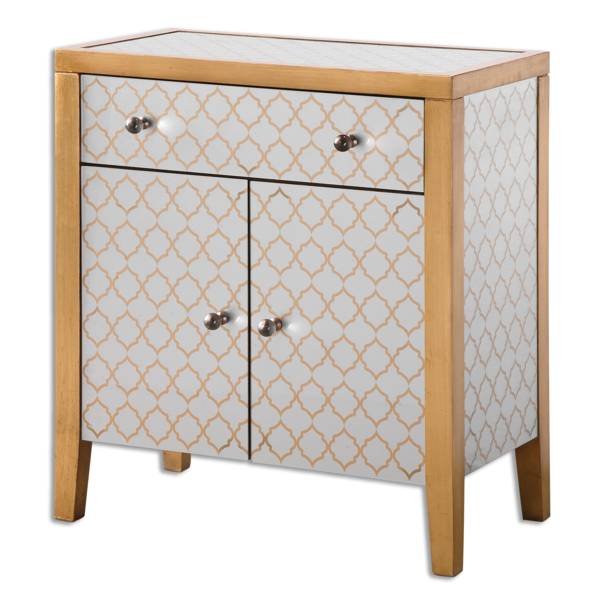Uttermost Accent Furniture Karolina Mirrored Accent Chest - Item Number: 24499