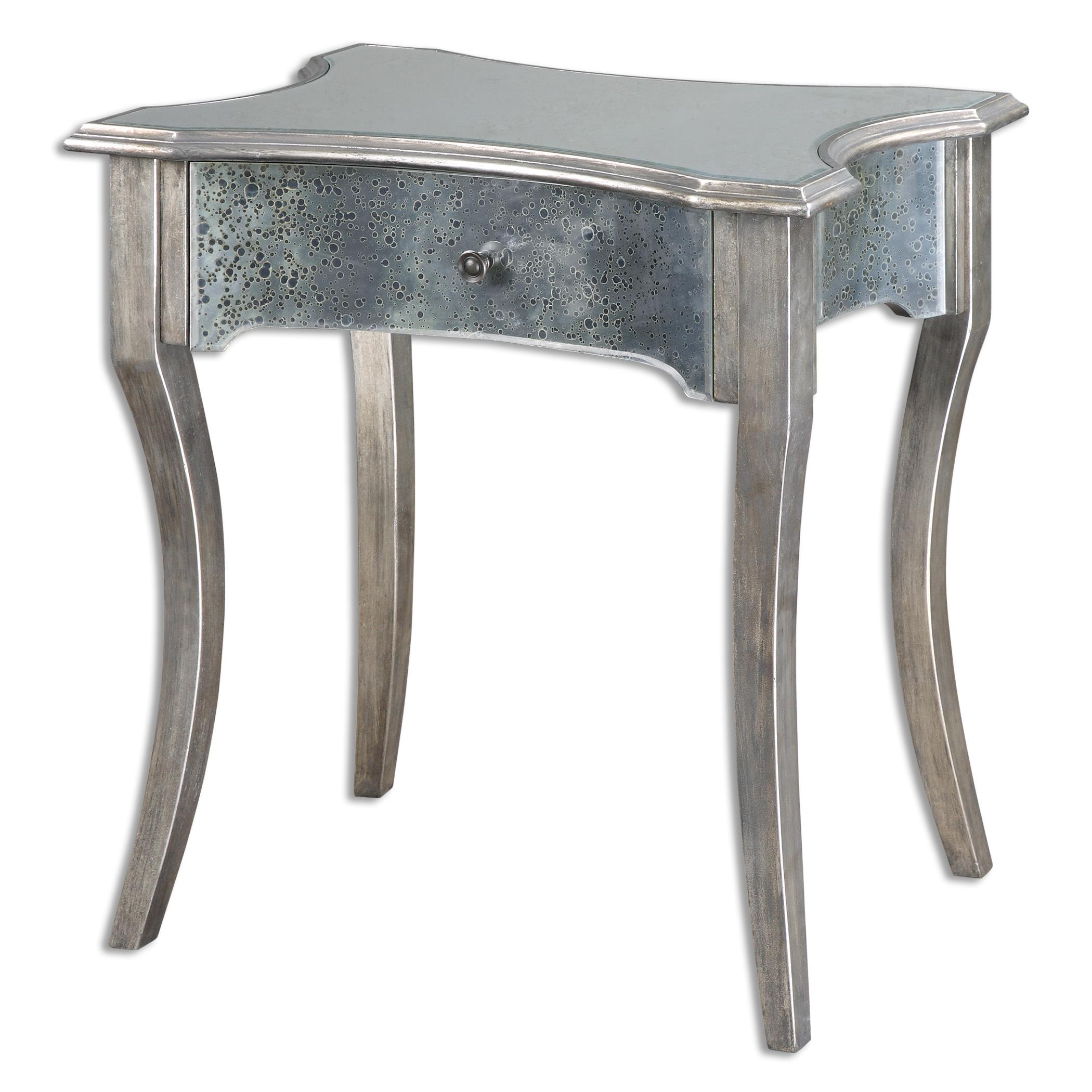 Uttermost Accent Furniture Jovannie Mirrored Accent Table - Item Number: 24508