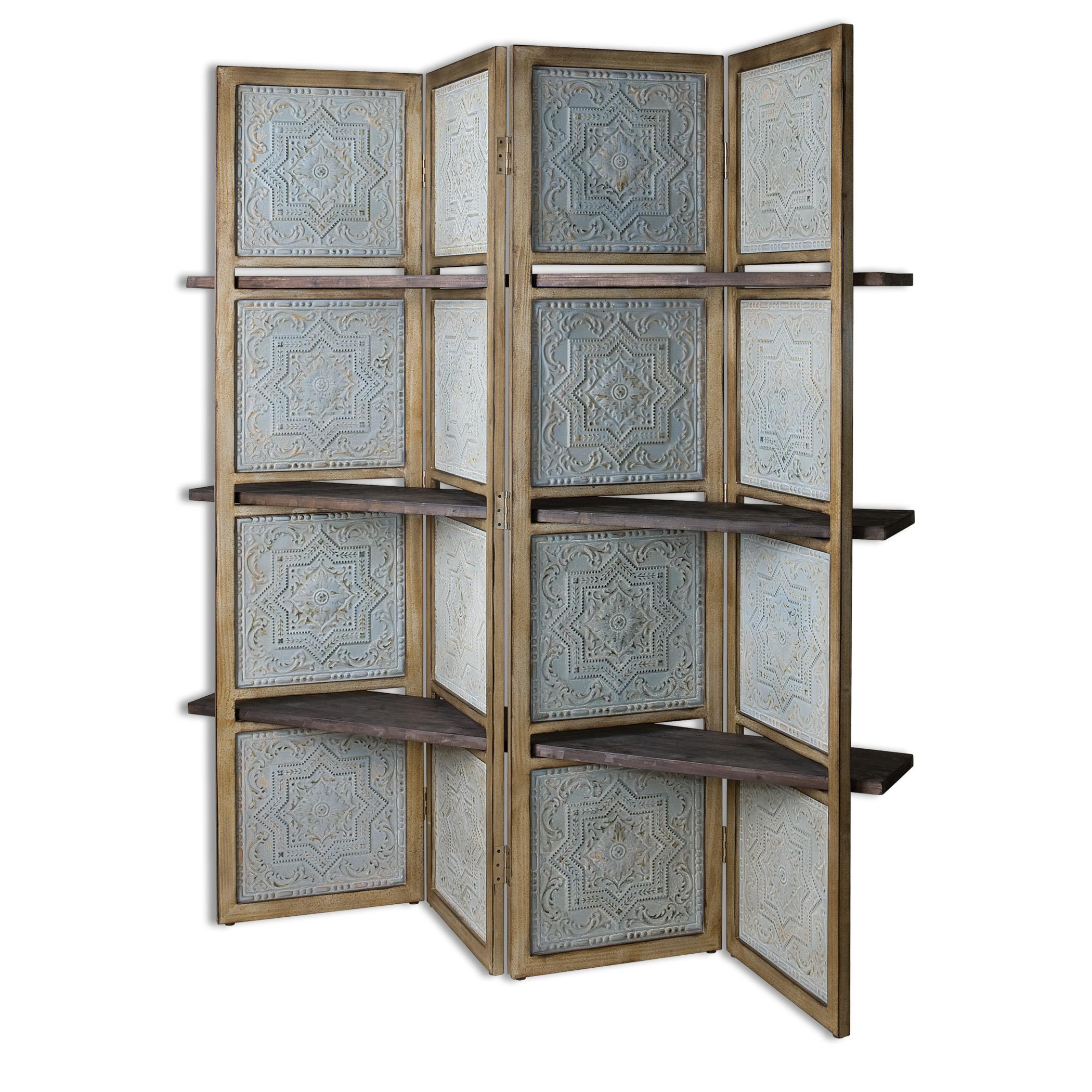 Uttermost Accent Furniture Anakaren Screen with Shelves - Item Number: 24511