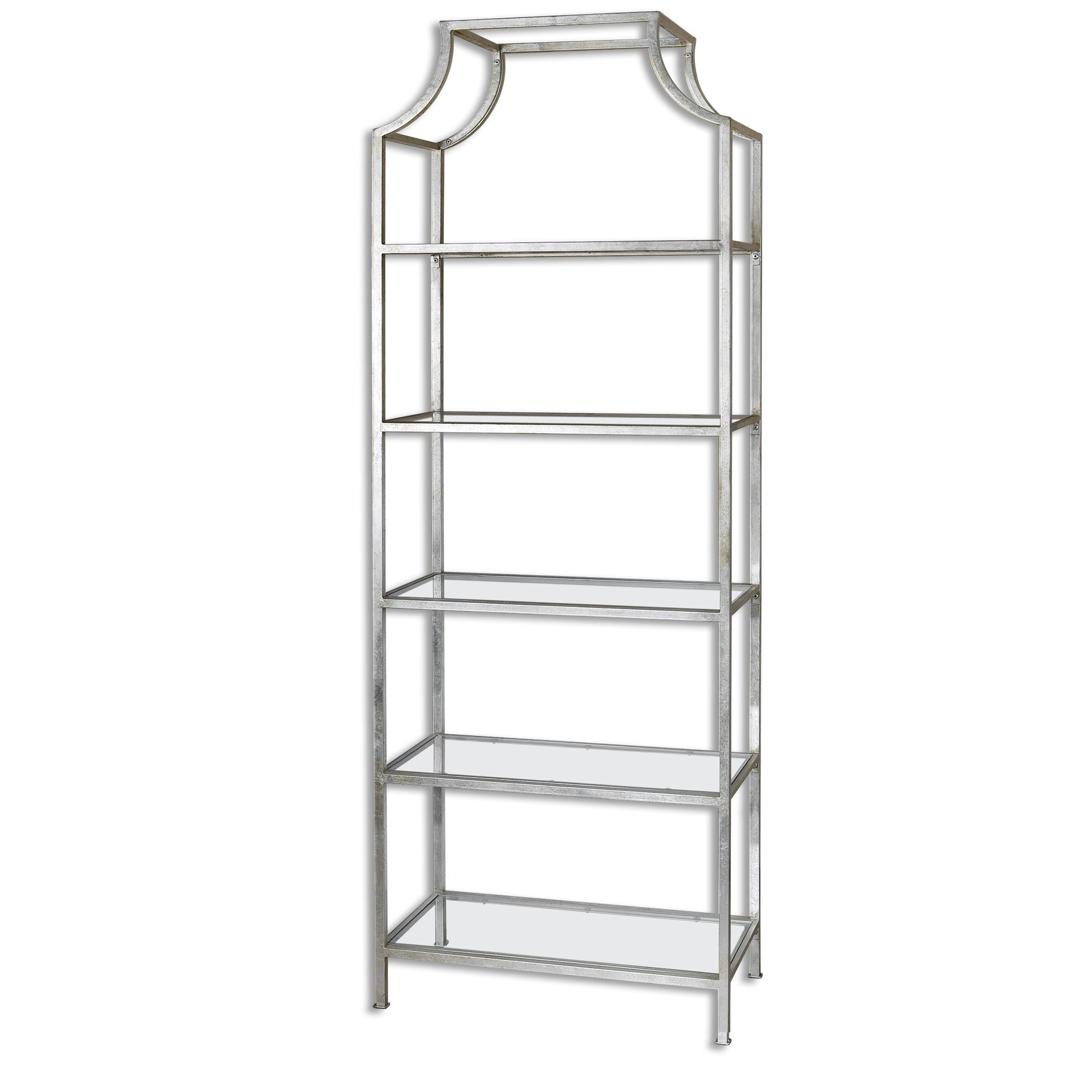 Accent Furniture - Bookcases Aurelie Silver Etagere by Uttermost at Reid's Furniture