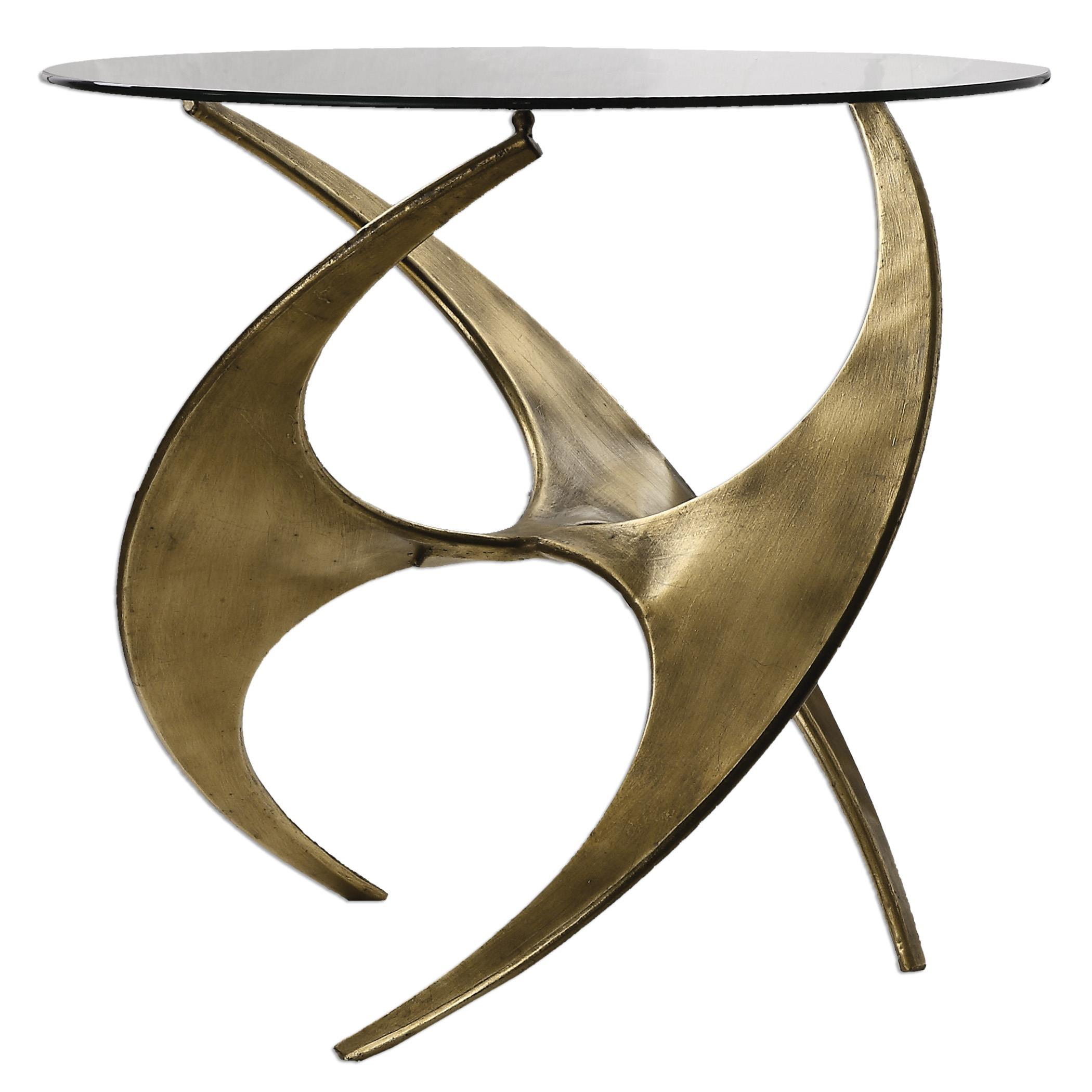 Accent Furniture - Occasional Tables Graciano Glass Accent Table by Uttermost at Del Sol Furniture