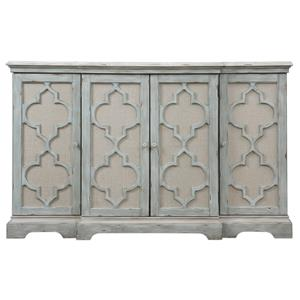 Uttermost Accent Furniture Sophie 4 Door Grey Cabinet