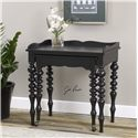 Uttermost Accent Furniture Hallee Black Rollout Desk