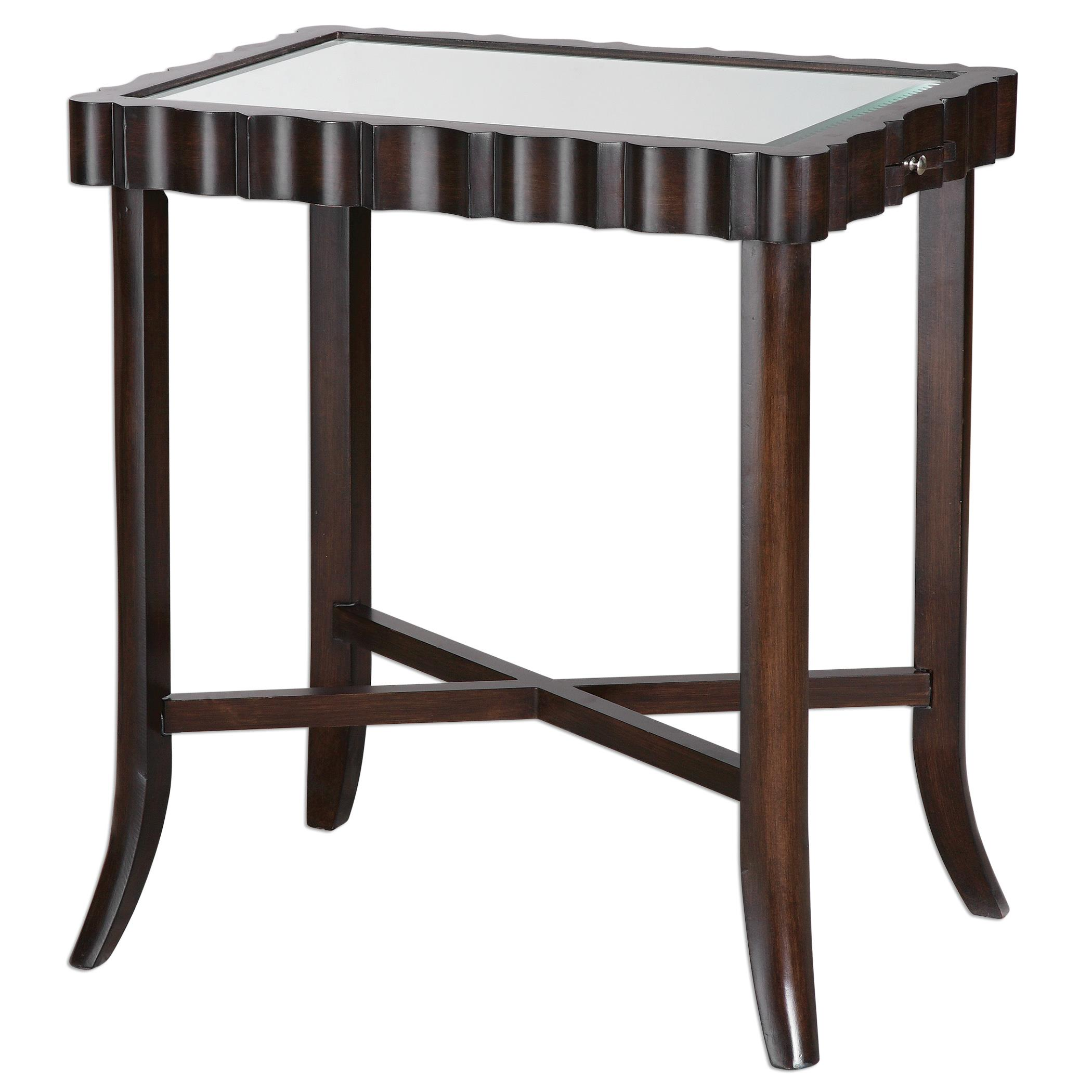 Uttermost Accent Furniture Karisa Dark Walnut Accent Table - Item Number: 24524