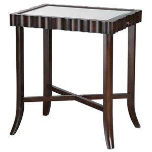 Uttermost Accent Furniture Karisa Dark Walnut Accent Table