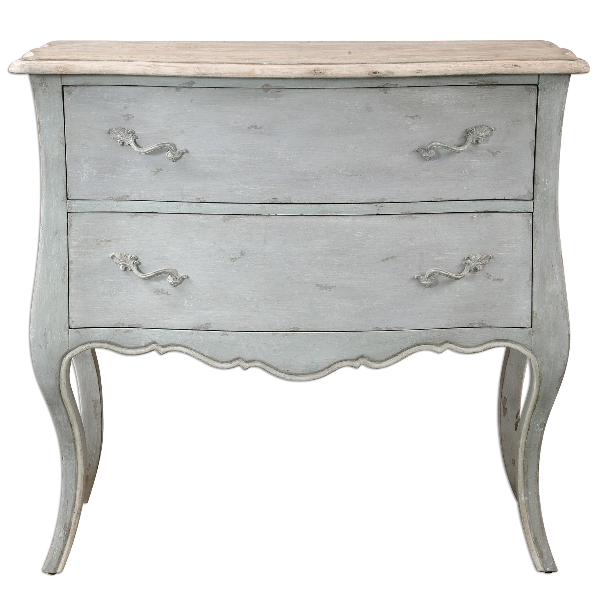 Uttermost Accent Furniture Ferrand Gray Accent Chest - Item Number: 24527